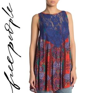 New Free People Floral Lace Trapeze Dress Tunic